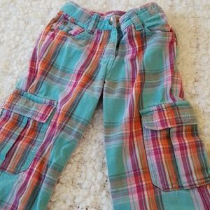 Mini Boden toddler girls plaid flared pants